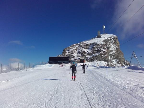 Le départ du Klein Matterhorn (petit Cervin).