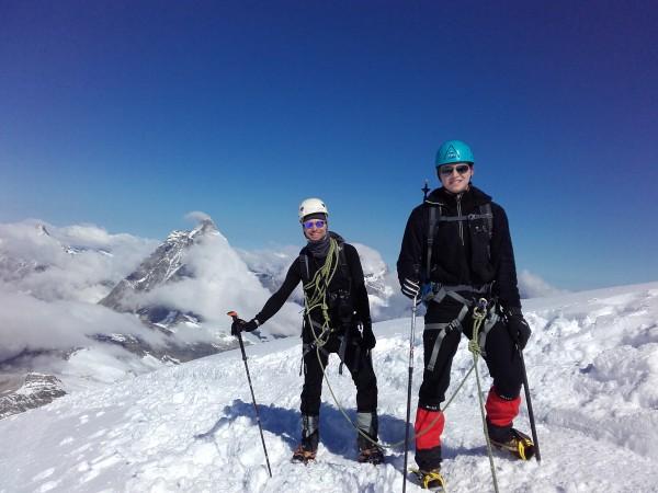 On arrive au sommet du Breithon Ouest à 4164m.