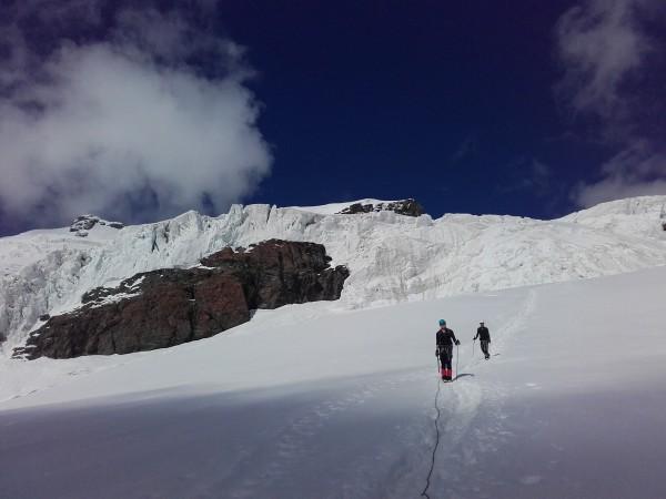 Bientôt arrivé au refuge des guides du Val d'Ayas.