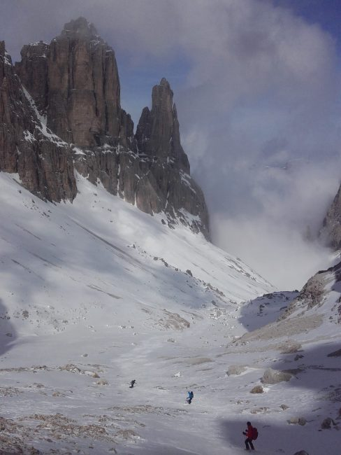 Ski dans le Val di Mesdi.