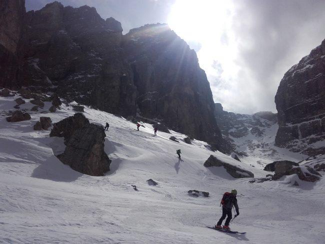 Ski hors piste dans les Val di Mesdi.