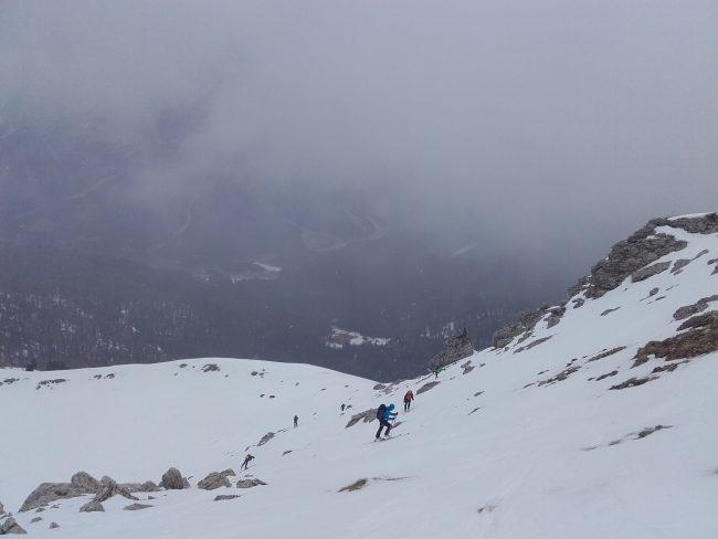 Randonnée à ski au Setsas dans les Dolos.