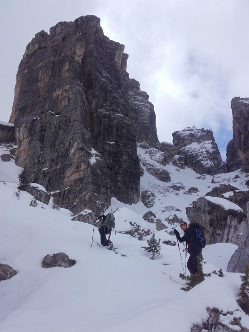 Ski de rando dans les Cinque Torri.