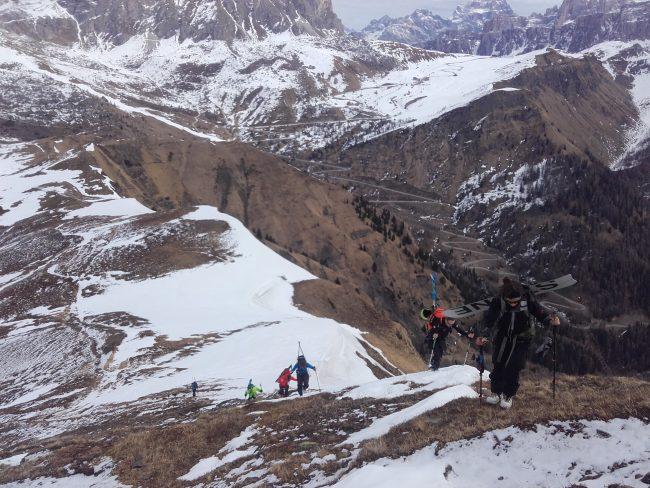 Ascension du mont Pore dans les Dolomites.