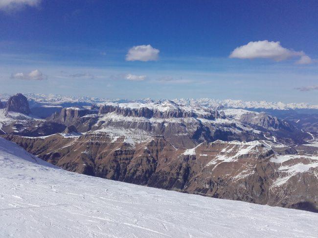 La vue du haut de la Marmolada.