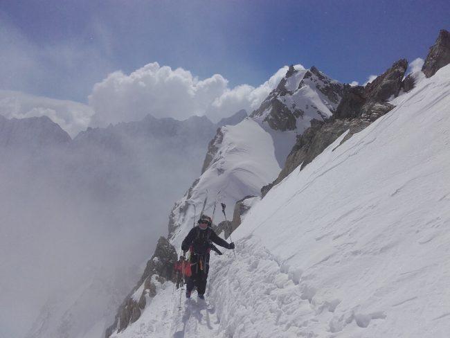 Le passge du col des Neiges en ski.