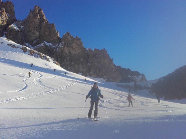 Méga descente en ski d'Adèle Planchard.
