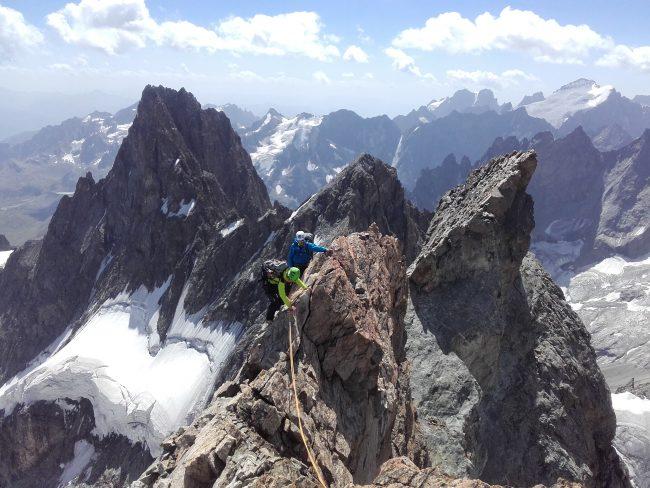 Alpinisme entre Rateau et Meije.