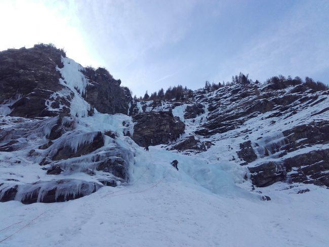 La cascade de glace du nain des ravines.
