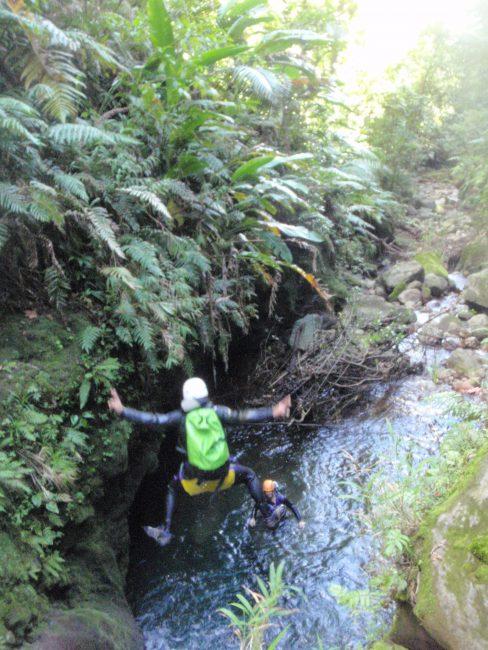 La bas galion, canyon de Guadeloupe.