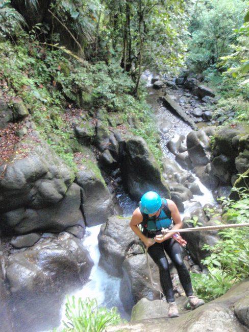 Le dernier rappel des Cascade Vauchelet en Guadeloupe.