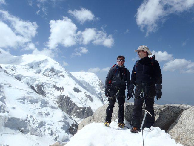 L'arête à Laurence dans le massif du Mont Blanc.