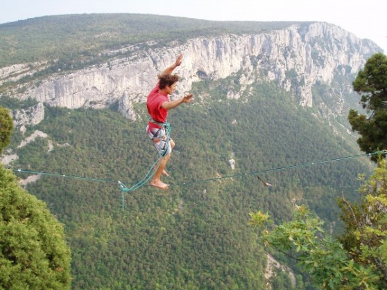 courte highline gorges du verdon