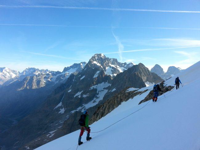 Stage autonomie alpinisme Ecrins 2014.