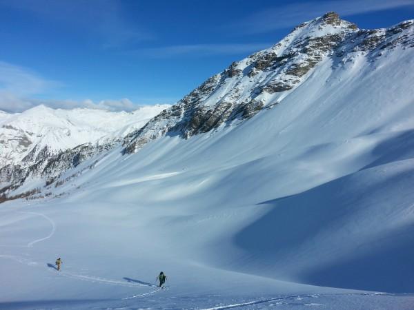 Rando à ski à Réallon.