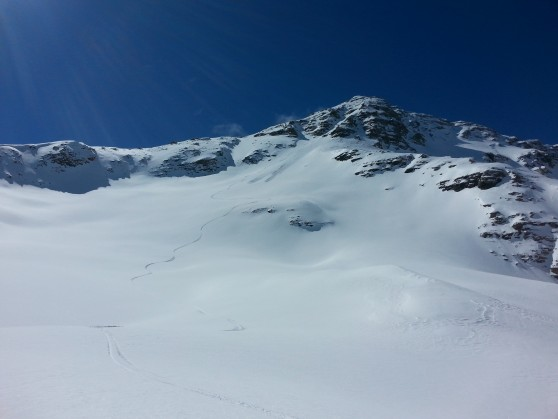 Face nord du grand pinier à ski.