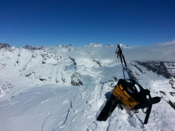 Rando à ski au Grand Pinier.
