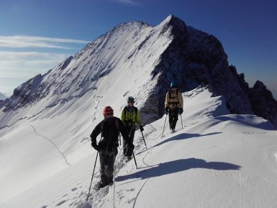 Stage d'initiation à l'alpinisme dans les Ecrins.
