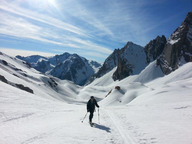 Ski de randonnée dans le Val Maira à l' Auto Vallonasso.