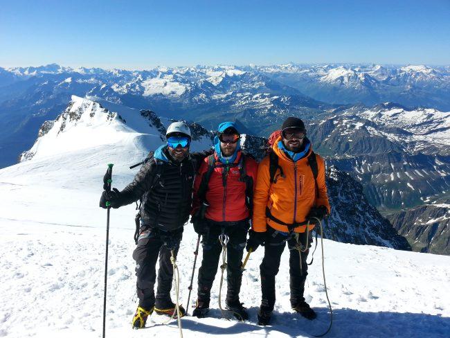 Sommet du mont blanc en partant de Gonella.