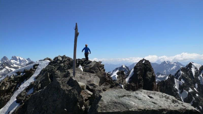 Au sommet du Sirac.