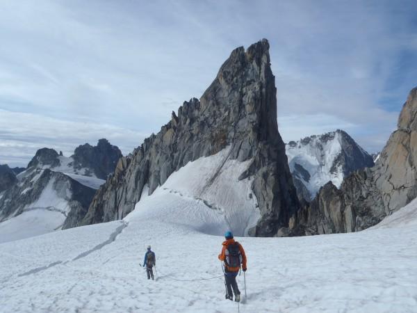Retour de l'aiguille du Tour, massif du Mont Blanc.