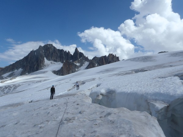Montée à la petite fourche, glacier du Tour.