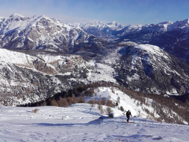 Randonnée à ski dans le Fournel.