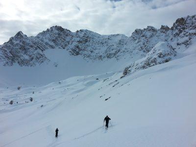 Raid à ski dans les Cerces.