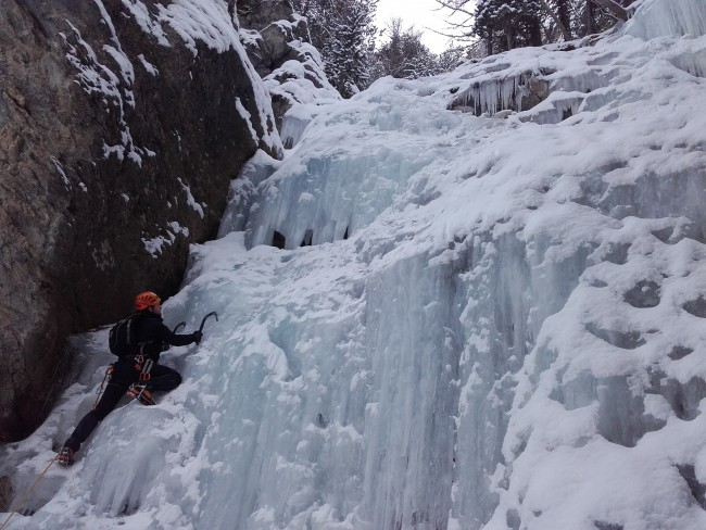 Stage cascade de glace Ecrins 2016