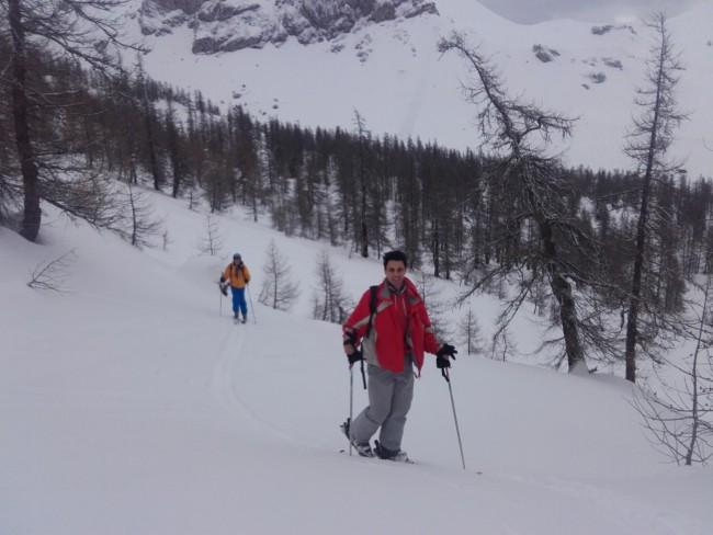 Mix ski rando hors piste à Serre che.