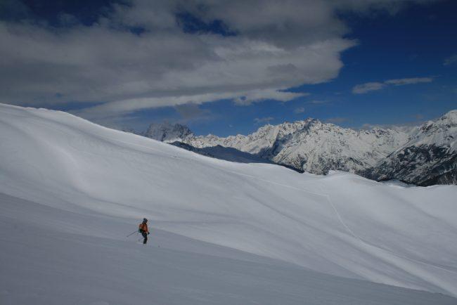 Ski de rando à la tete des raisins.
