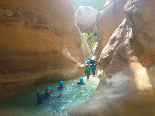 Canyoning dans le Riolan