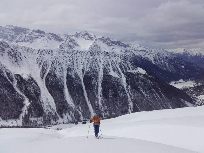 Tête de Jacquette en ski de randonnée.