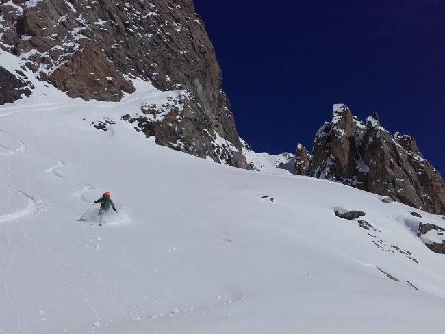 ski au col de monetier.