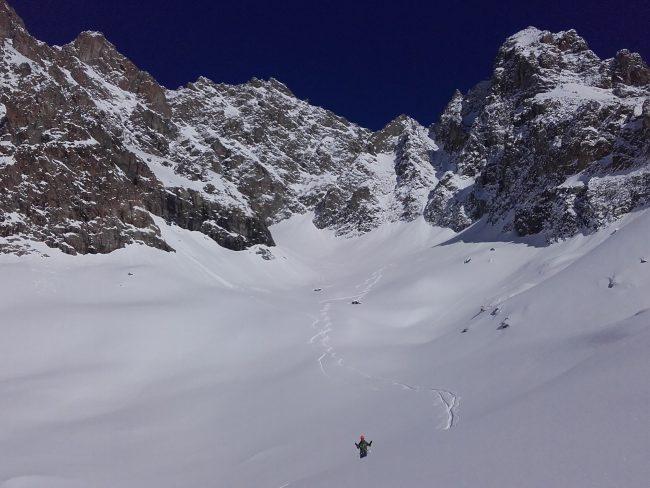 Ski de rando ecrins et glacier Blanc.