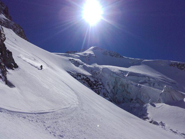 ski glacier des agneaux et pic de neige cordier.