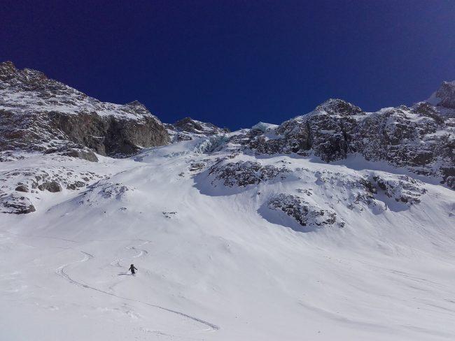 Ski de rando au glacier des agneaux.