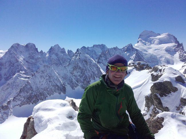 Ski alpinisme dans les Ecrins.