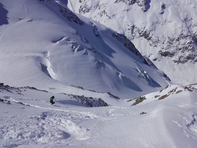 Ski au Pic de neige cordier.