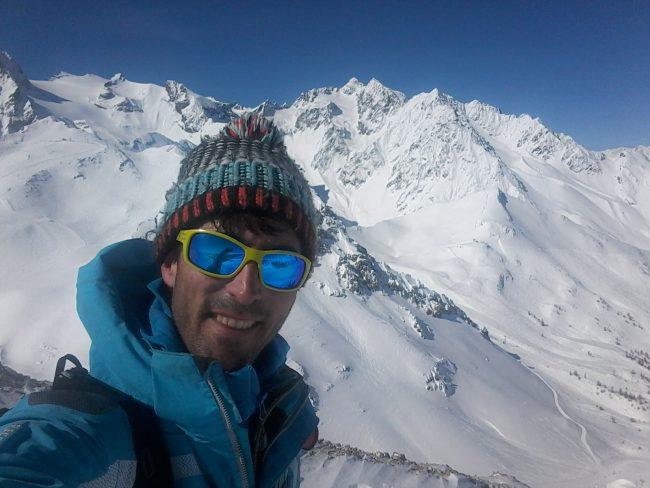 Julien LOSTE à Serre Chevalier, sommet Cucumelle.