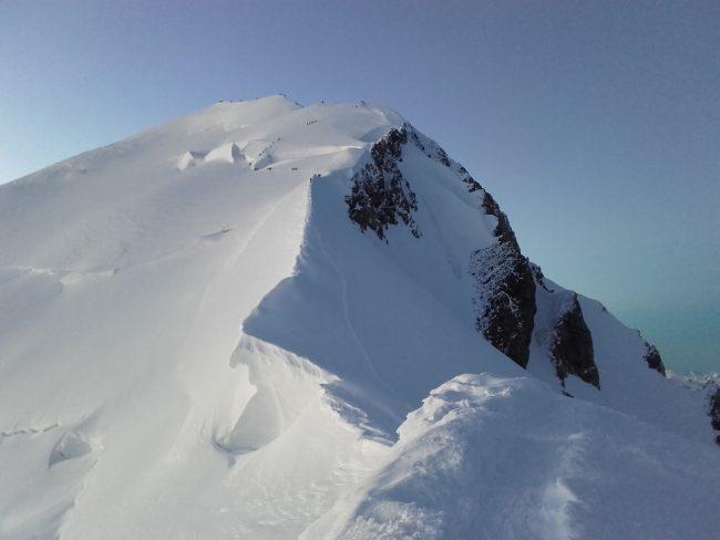 L'arête des Bosses et le Mont Blanc.