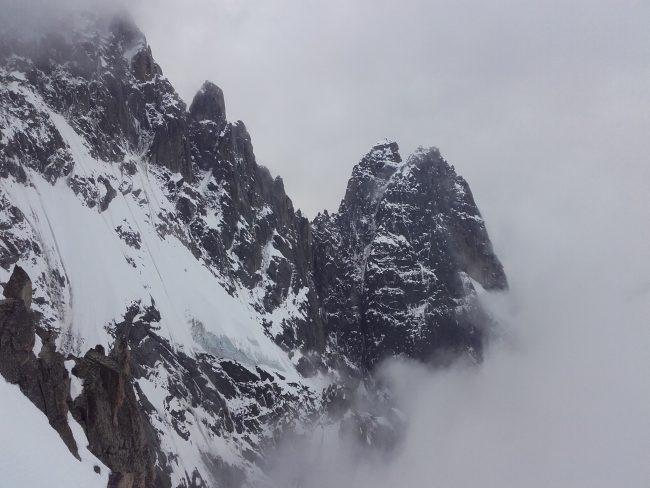 Les Drus et le versant Nant Blant de la Verte