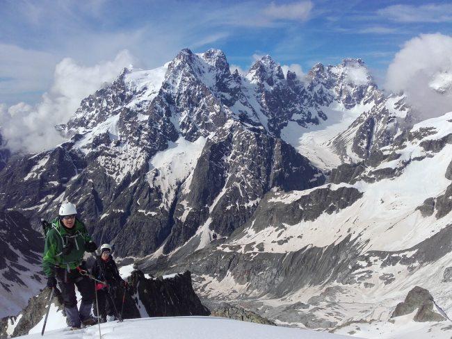 Stage alpinisme au glacier blanc.