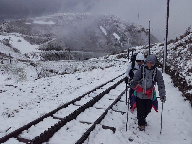 Randonnée sur le tramway du Mont Blanc.