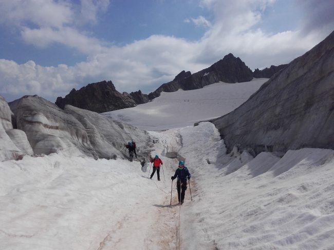 Randonnée glaciare au dome de la lauze.