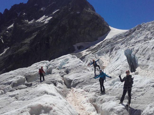 Balade glaciaire au glacier Blanc.