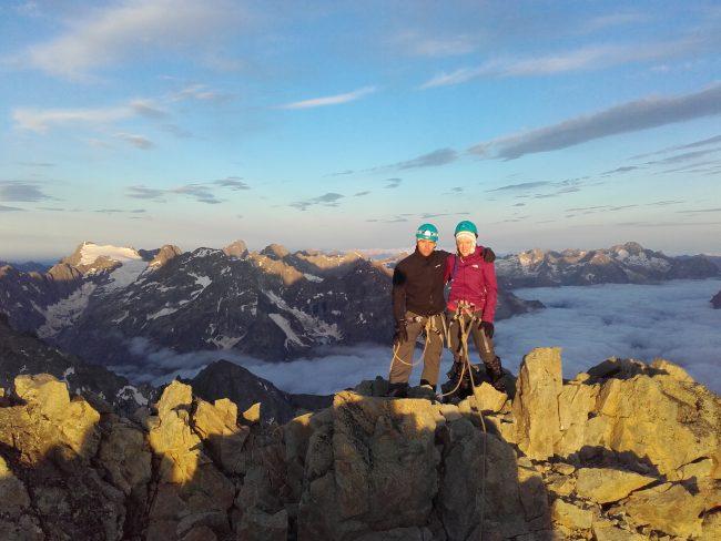 Le sommet de Roche faurio.