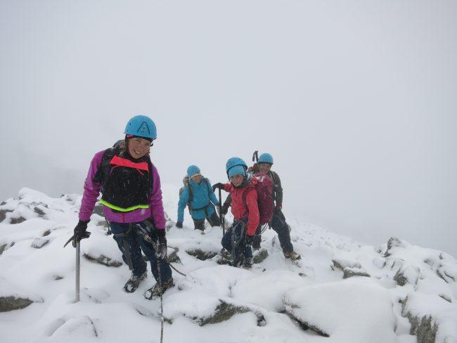 Antécime de la Roche faurio sous la neige.