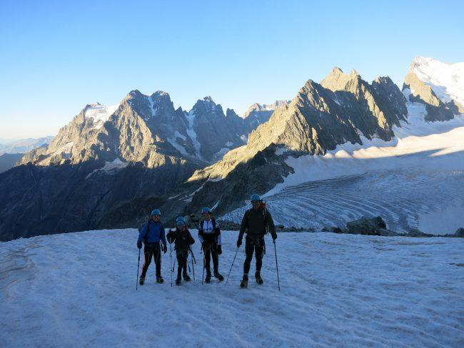 Découverte de l'alpinisme dans les Ecrins.